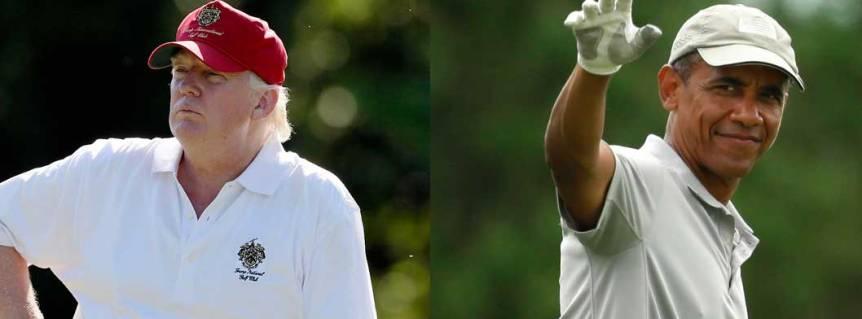 Who Golfs More:  Trump orObama?